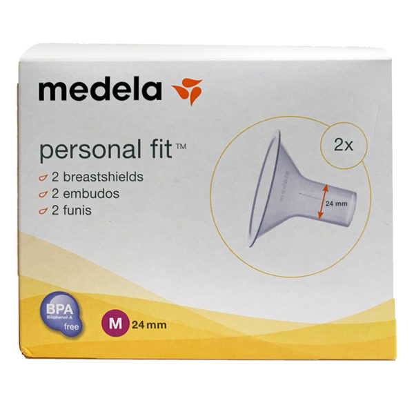 Medela Embudos Personalfit 24mmpara una extracción eficaz de la leche materna.Usar el tamaño de embudo correcto es fundamental para una extracción eficaz. Por ello