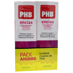 PHB ENCÍAS PASTA DENTRÍFICA DUPLO 75ML+75ML PACK AHORRO