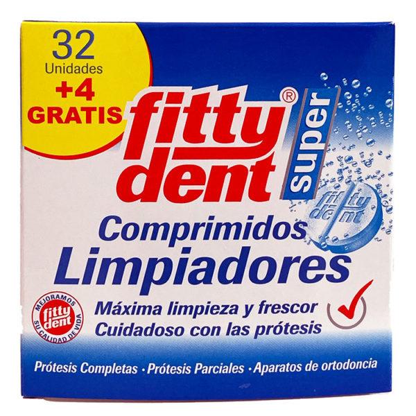 FITTYDENT SUPER LIMPIADOR PRÓTESIS DENTAL 32 UD+4 GRATIS
