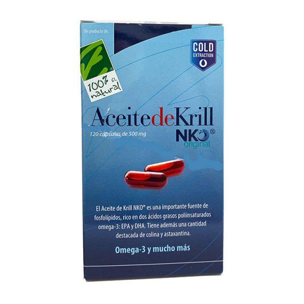 ACEITE DE KRILL NKO 500MG CIEN POR CIEN NATURAL 120 CÁPSULAS