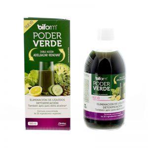 Con Biform Poder Verde conseguirás batidos verdes únicos con 35 extractos de frutas, verduras y plantas muy detoxificantes para renovar tu organismo.