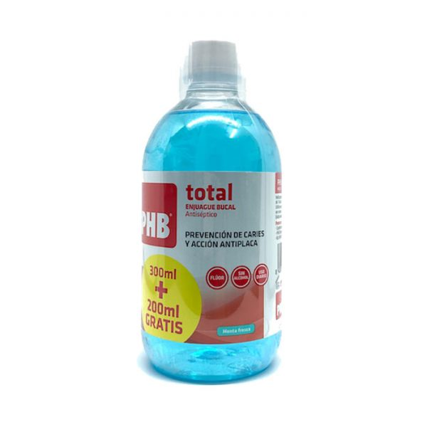 PHB TOTAL ENJUAGUE BUCAL AZUL 300ML+200ML GRATIS