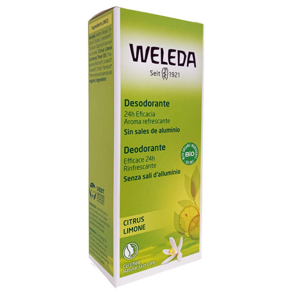 WELEDA DESODORANTE SPRAY DE CITRUS 100 ML