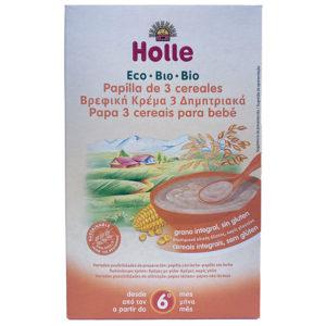 PAPILLA DE 3 CEREALES ECOLÓGICA HOLLE 250G