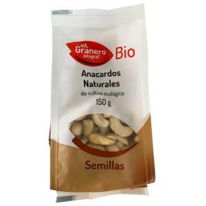 ANACARDOS NATURALES BIO EL GRANERO INTEGRAL 150G