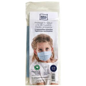 Mascarilla de algodón 100% doble capa. Con eficacia de filtración de más del 96%. Lavable y reutilizable