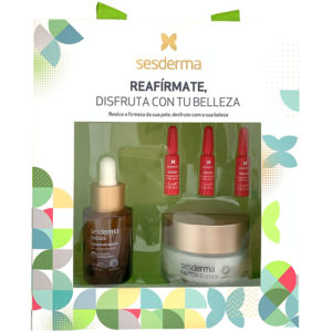 Sesderma Pack de Firmeza Reafirmante contiene la rutina diaria completa reafirmante: DAESES serum reafirmante