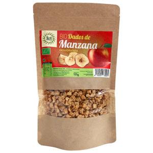 DADOS DE MANZANA BIO DESHIDRATADA SOL NATURAL 125G