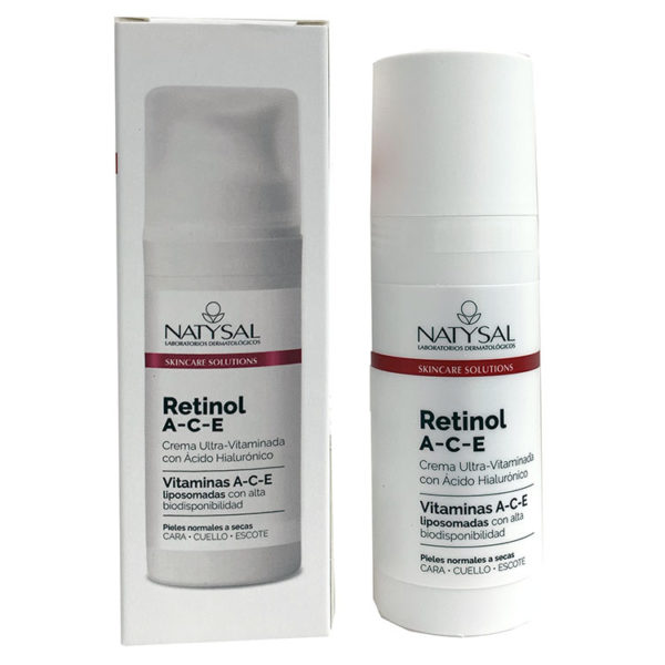 Retinol A-C-E de Natysales una crema vegetal ultra vitaminada con Ácido Hialurónico