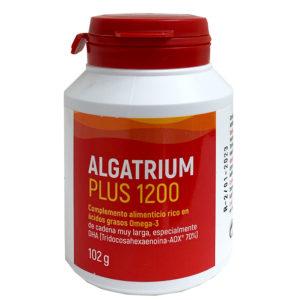 Algatrium Plus es un complemento alimenticio rico en ácidos grasos omega-3 que tiene un alto contenido DHA y contribuye a la estimulación antioxidante celular.