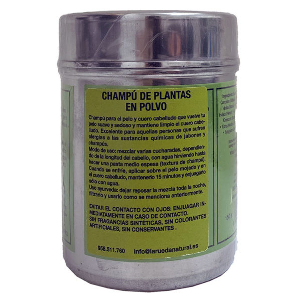 KHADI CHAMPÚ DE PLANTAS EN POLVO AYURVEDA 150G