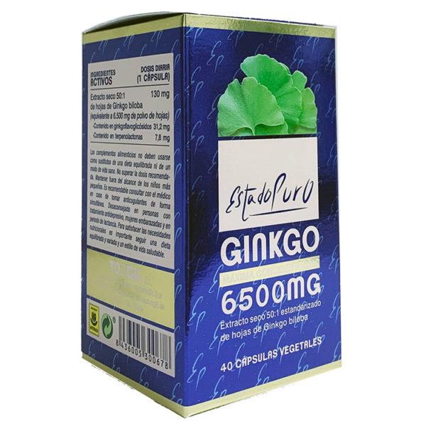 GINKGO 6500MG ESTADO PURO TONGIL 40 CÁPSULAS